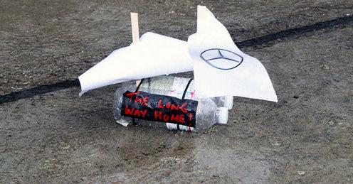 кораблик от Mercedes GP на Гран-при Японии 2010