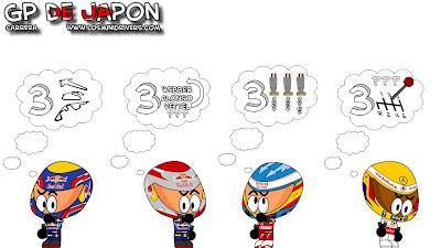 положение ведущих пилотов после Гран-при Японии 2010