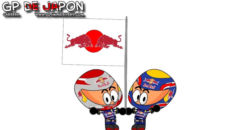 Себастьян Феттель и Марк Уэббер приносят Red Bull победный дубль на Гран-при Японии 2010