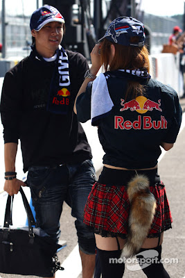 модные болельщики Red Bull на Гран-при Японии 2010