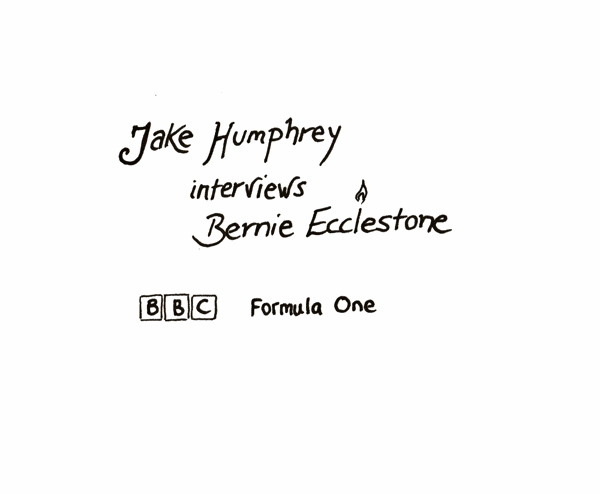 Jake Humphrey interviews Bernie Ecclstone BBC Formula One