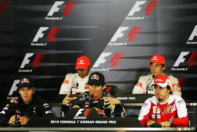 пресс-конференция в четверг на Гран-при Кореи 2010