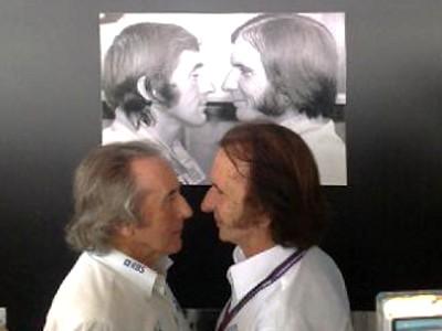 Эмерсон Фиттипальди и Джеки Стюарт на Гран-при Бразилии 2010
