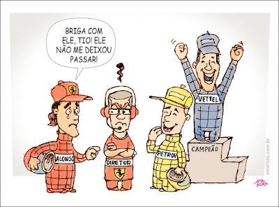 Фернандо Алонсо жалуется на Виталия Петрова комикс