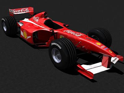 Ferrari в раскраске Coca Cola