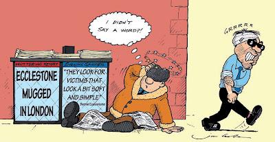 комикс Jim Bamber про ограбление Берни Экклстоуна