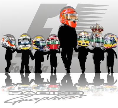 Михаэль Шумахер и молодые гонщики