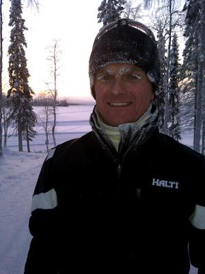 Хейкки Ковалайнен после двух часов на морозе