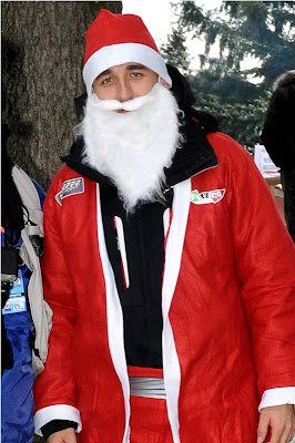 Роберт Кубица в костюме Деда Мороза