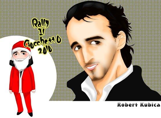 рисунок Роберт Кубица на Rally Ciocchetto 18-19 декабря 2010
