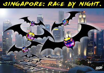 Ночная гонка Сингапура by Baffi