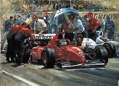 арт Михаэль Шумахер на Гран-при Монако 1996.