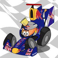 Себастьян Феттель в болиде Red Bull