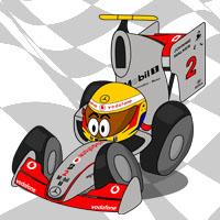 Льюис Хэмилтон в болиде McLaren