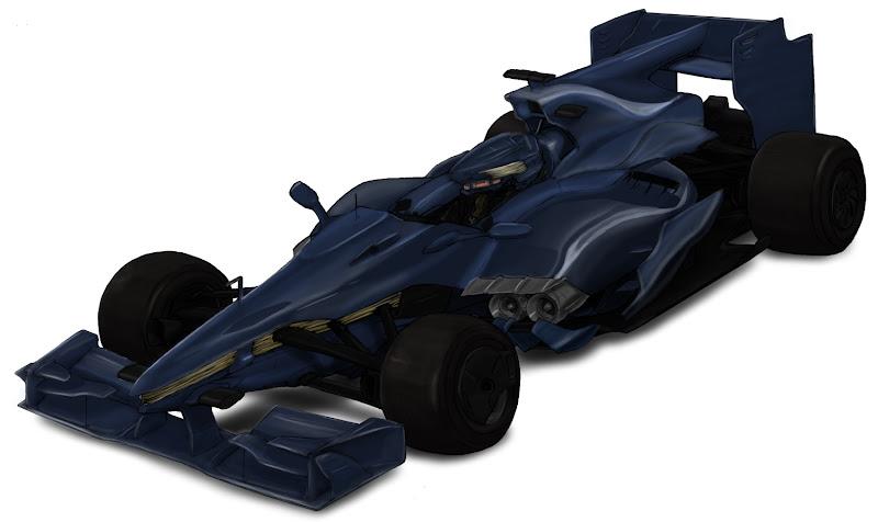 болид Формулы-1 с реактивным двигателем