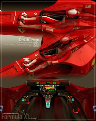 кокпит Formula X1 concept by megatama