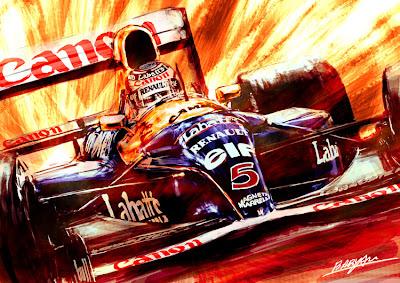 рисунок Найджел Мэнселл Williams FW14B 1992 год