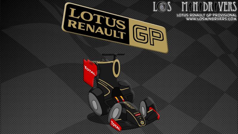 новая раскраска Lotus Renault GP Los MiniDrivers