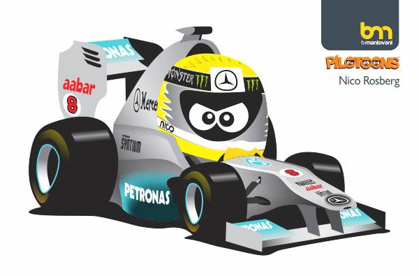 Нико Росберг Mercedes GP 2011 pilotoons
