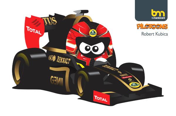 Роберт Кубица Lotus Renault 2011 pilotoons