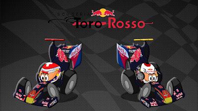 Себастьян Буэми и Хайме Альгерсуари Toro Rosso 2011 Los MiniDrivers