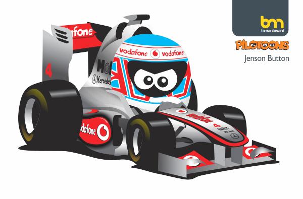 Дженсон Баттон McLaren pilotoons 2011