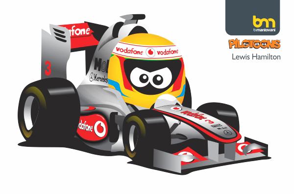 Льюис Хэмилтон McLaren pilotoons 2011