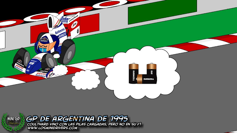 Дэвид Култхард сходит на Гран-при Аргентины 1995 из-за проблем с электрикой