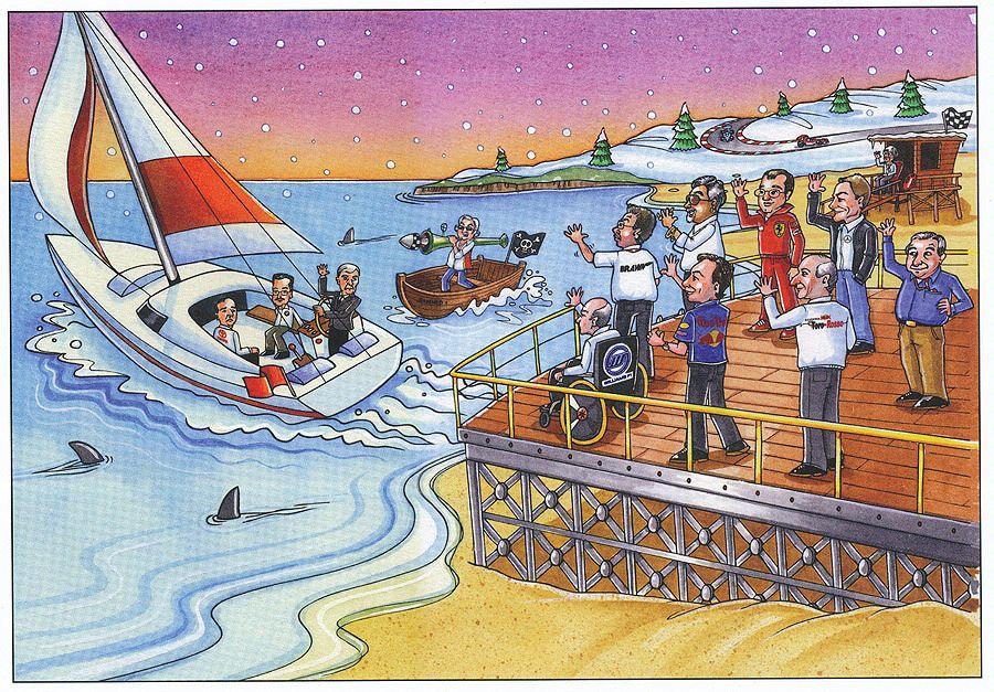 Рождественская открытка Берни Экклстоуна 2009