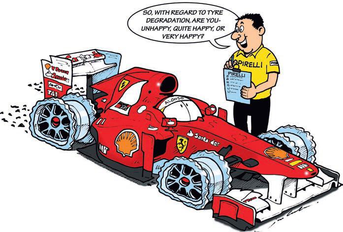 комикс Jim Bamber Фернандо Алонсо Ferrari Pirelli