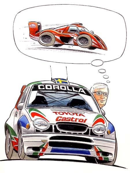 комикс гонщик Toyota ралли мечтает о ле-мане
