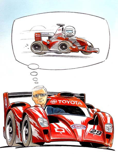 комикс гонщик Toyota ле-ман мечтает о формуле-1