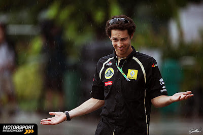 Бруно Сенна под дождем в дни уикэнда на Гран-при Малайзии 2011