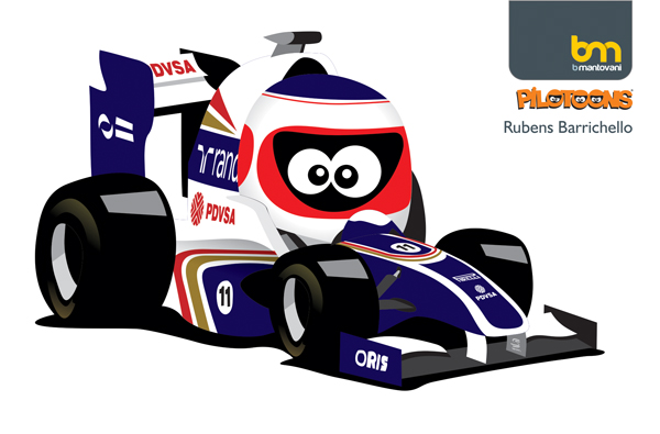 Рубенс Баррикелло Williams 2011 pilotoons