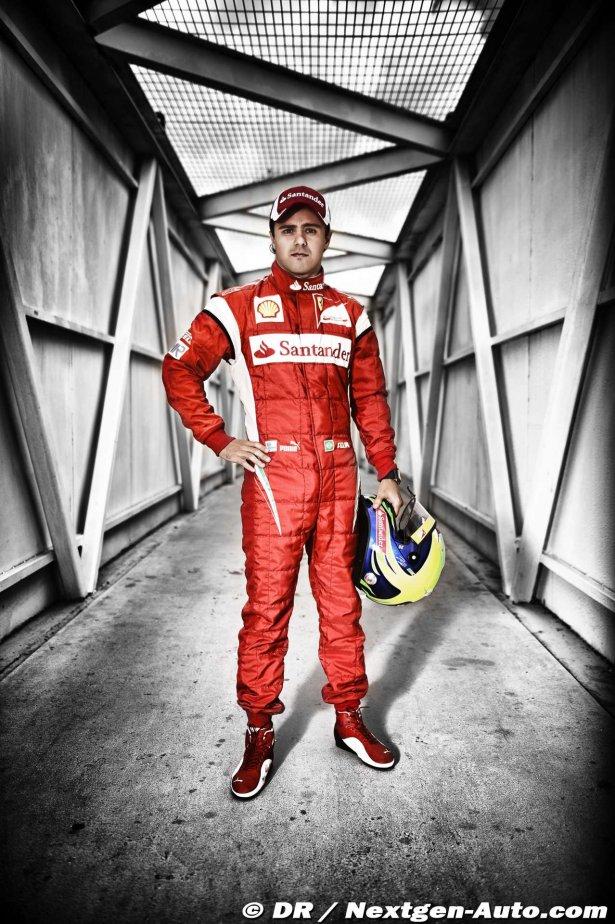 стена в гараже Ferrari с Фелипе Массой