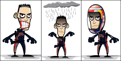 три карикатуры Crazy Circus Marchesi Design Себастьяна Буэми в сезоне 2011