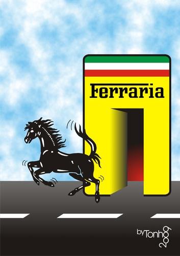 пит-стоп Ferrari карикатура Tonho