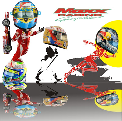 Фернандо Алонсо Льюис Хэмилтон Себастьян Феттель Куала-Лумпур Maxx Racing перед гонкой на Гран-при Малайзии 2011