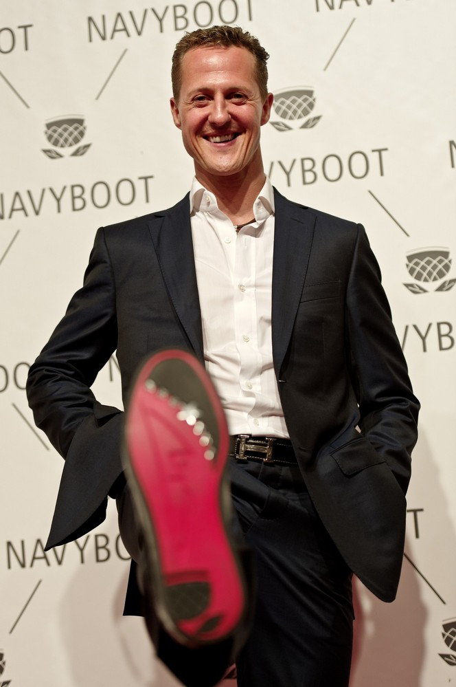 Michael Schumacher limited luxury sneaker for the Navyboot Msone Collection launch at MoCa