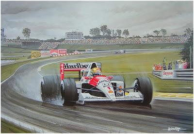 арт Айртон Сенна на McLaren с единичкой