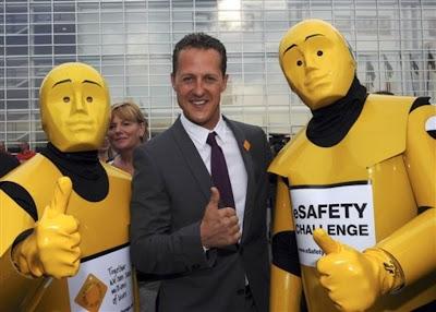 Михаэль Шумахер с двумя желтыми