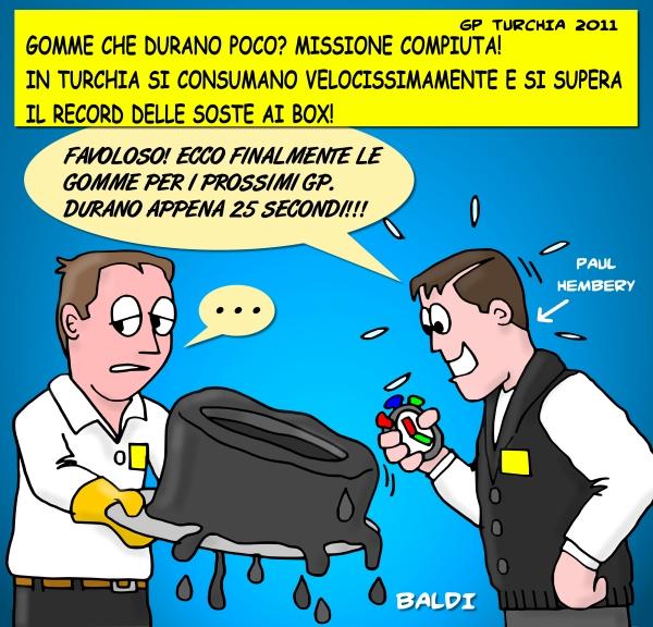 Пол Хембри о резине Pirelli комикс Baldi после Гран-при Турции 2011