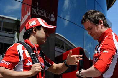 Фелипе Масса и Роб Смедли на Гран-при Испании 2011