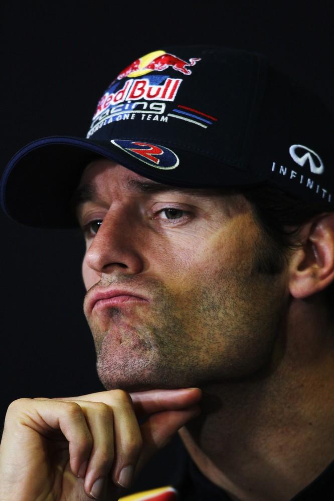 Марк Уэббер на пресс-конференции на Гран-при Испании 2011
