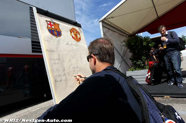 Рубенс Баррикелло предсказывает счет в финальном матче Лиги Чемпионов на Гран-при Испании 2011