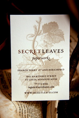 Secret Leaves business card