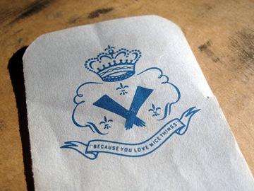 Vintage glove tag