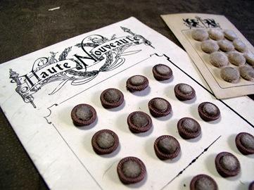 Vintage velvet buttons