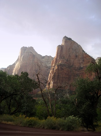 Twin peaks at Zion