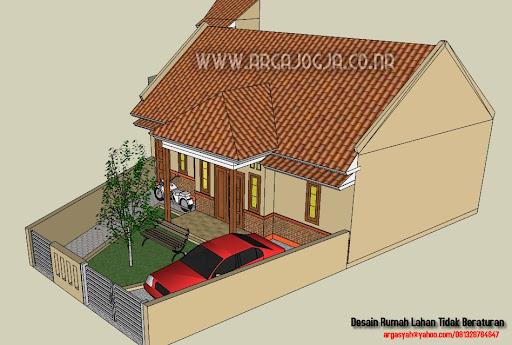 Desain Rumah Pada Lahan Yang Tidak Beraturan